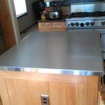 custom made counter top installed in customer's kitchen