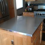 slightly different view of stainless counter