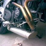 custom made exhaust for a BUELL motorcycle stainless steel